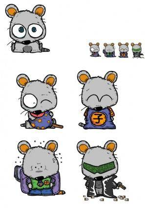 free vector Vector cute little mouse