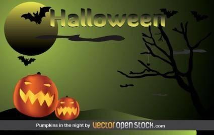 Halloween - Pumpkins in the night