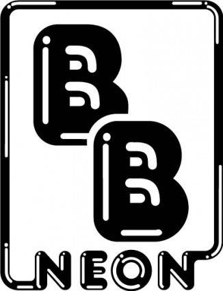 free vector B&B Neon logo