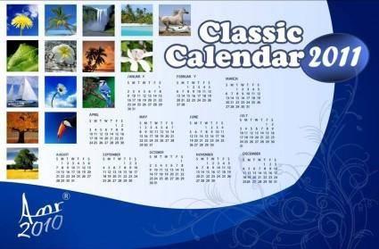 free vector Classic Calendar for 2011