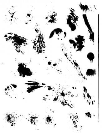 25 Free Vector Drips, Drops, and Splatters