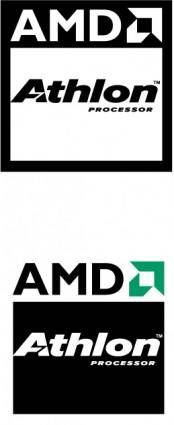free vector AMD Athlon processor logo