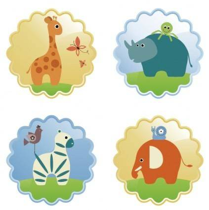 free vector Cute animals vector