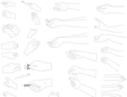free vector Hand Vectors