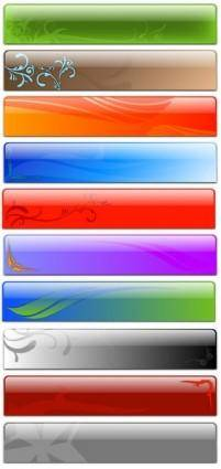 free vector Free Vector Glass Header Designs - Fancy