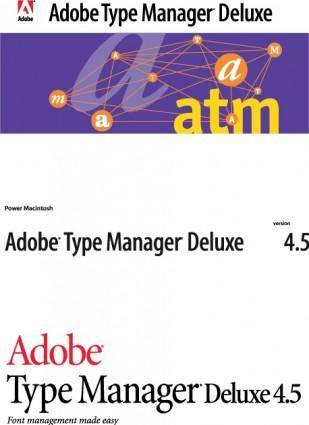 Adobe Type Manager logos