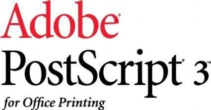 Adobe PostScript 3 logo