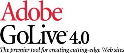 free vector Adobe GoLive logo
