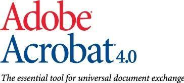free vector Adobe Acrobat 4 logo