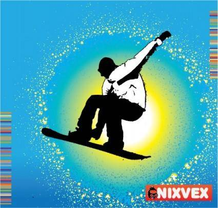 "free vector NixVex ""SnowBoarder"" Free Vector"
