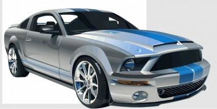 free vector Vector Mustang