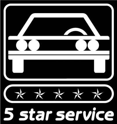 free vector 5 star service