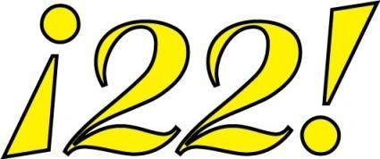 free vector 22 logo