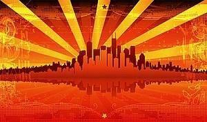 free vector Red summer urban vector