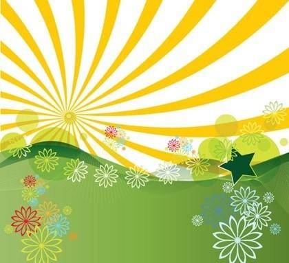 free vector Free Vector Summer Landscape