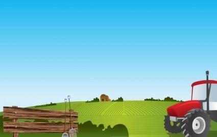 free vector Farm Landscape