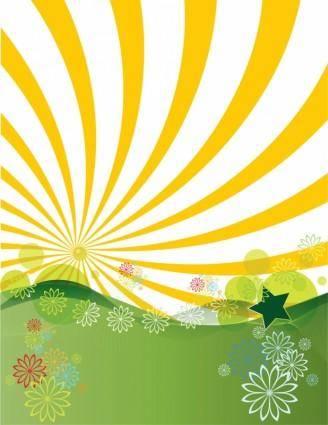free vector Sunshine Landscape