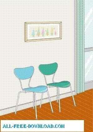 free vector Vector room 011