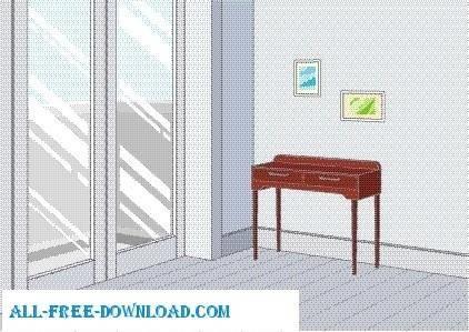 free vector Vector room 022