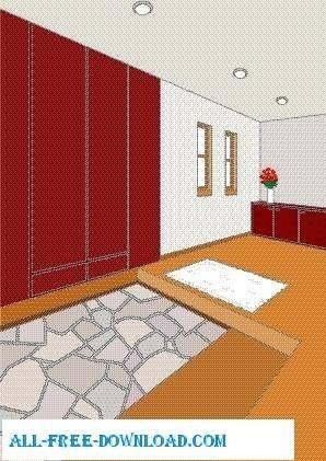 free vector Vector room 024