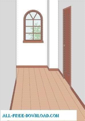 free vector Vector room 030