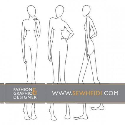 free vector Female Fashion Croquis / Blank Fashion Sketches