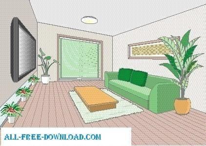 free vector Vector room 050