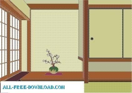 free vector Vector room 063