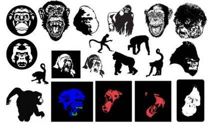 free vector Gomedia gorillas and monkeys produced vector