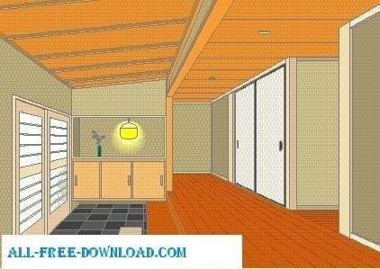 free vector Vector room 074
