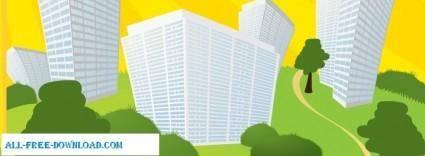 free vector Vector Building 2