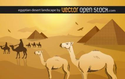 Egyptian desert landscape