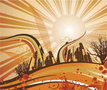 free vector Sunrise Background Vector