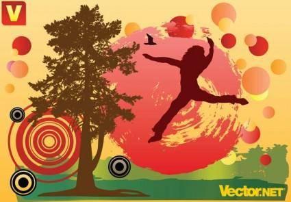 Free autumn fun vector