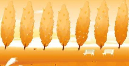 free vector Vector autumn breeze