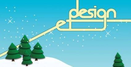 free vector Winter trees background vector