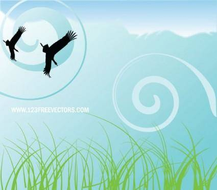 free vector Nature background free vector