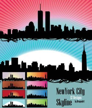 free vector Vector - Skyline US New york city