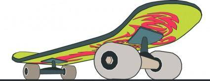 Skateboard close up with design