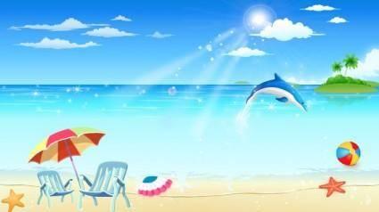 free vector Seaside Resort 01