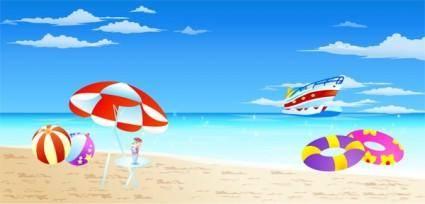 free vector Seaside Resort