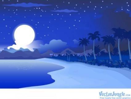 free vector Vectors-star-night