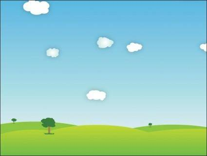 free vector Outdoor Landscape