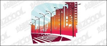 free vector Vector urban road material