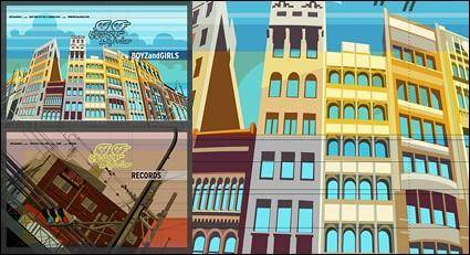 free vector Architect design city landscape