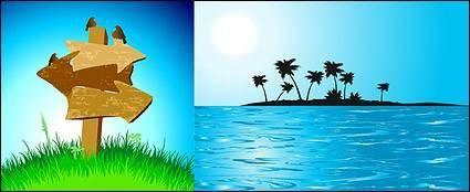 Way sign island