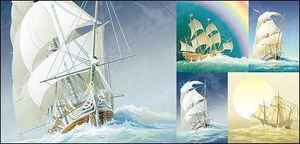 Sailing ship sailing boast