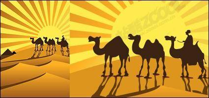 free vector Camel on desert