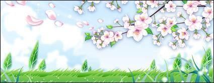 free vector Peach blossom