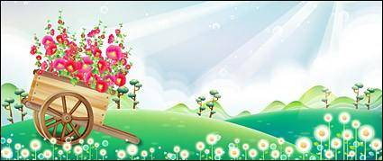 free vector Rickshaw flower